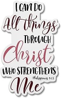 WIRESTER Fridge Magnet Decoration for Kitchen Refrigerator, Christian Bible Verses Philippians 4:13