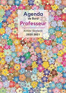 Agenda de Bord Professeur - Année scolaire 2020 2021: Collège Lycée - Pour chaque semaine: 1 double page d'agenda + 1 doub...