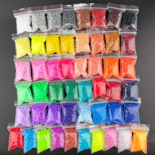 UYGN 500Pcs / Beads 2.6Mm Hama Beads para Niños Rompecabezas Educativo DIY Juguetes Fusibles Cuentas Pegboard