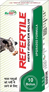 REFIT ANIMAL CARE - Heat and Fertility Bolus for Cows, Buffalo, and Cattle (REFERTILE -10 Bolus Pack)
