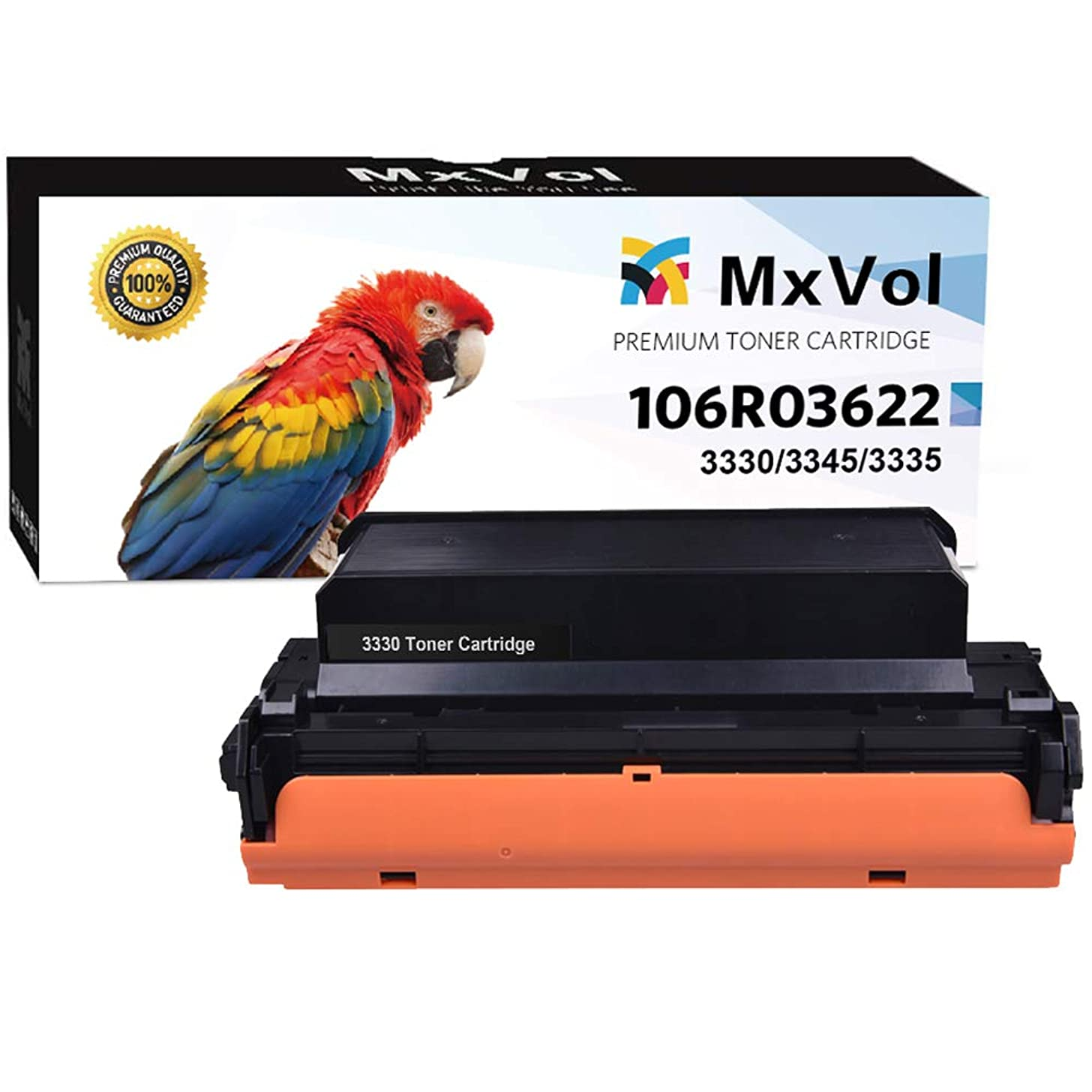 MxVol Compatible Xerox Phaser 3330 Toner Cartridge 1-Pack, 106R03622 High Yield Black 8,500 Pages use for Xerox Phaser 3330, WorkCentre 3345 3335 Printer