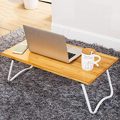 DGHJK Home Furniture, Desk Laptop Lap Desk Bed Table Tray Foldable W Legs Portable Breakfast Serving Reading Tray For Bed Couch Floor Students Kids- Wood Grain (Size : 70cm)