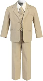 OLIVIA KOO Boy's Classic 2 Button Suit with Cloth Cover Buttons