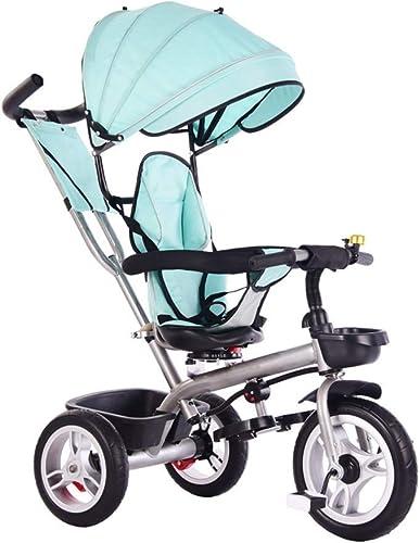para mayoristas Yuany Triciclo, Asiento para para para Triciclo Multifuncional 4 en 1 para Niños, Giratorio, Triciclo Exterior para bebé de 1-6 años, 2 Colors, 90x75x45cm (Color  verde Lago)  orden en línea