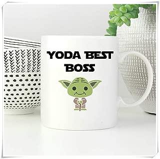 LeeHoomKok - Funny Boss Coffee Mug, Yoda Best Boss Mug, Funny Gift for Boss