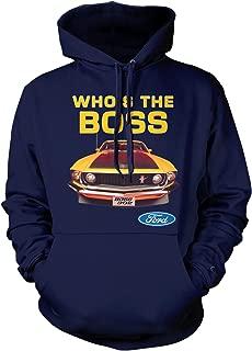 Amdesco Men's Who's The Boss 302 Mustang Hooded Sweatshirt