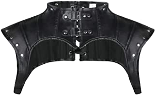 CHARMIAN Women's Steampunk Gothic Leather Costume Shoulder Jacket Shrug Armor