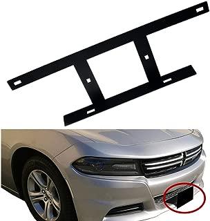 Dewhel Front Bumper No No Drill License Plate Mounting Bracket Relocator LP Holder Holder For 2015 2016 2017 2018 Facelift Dodge Charger