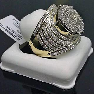 Hip Hop Ring-Luxury Domineering Exaggerated Gold Full...