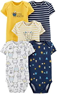 Carter's Baby Boys 5 Pack Bodysuit Set, Monsters, 24 Months