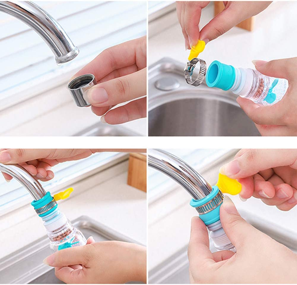 360/° Rotating Retractable Water Saving Splash-Proof Faucet Nozzle GHSY 3Pcs Booster Shower Kitchen Filter Tap Telescopic Water Filter for Kitchen Sink with Filter Physical Filtration