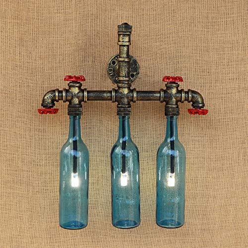 Industrielles Wind Retro-Bierflasche Wasser Rohr Wand Lampe Persönlichkeit kreative Restaurant Lampe Schlafzimmer American Land Cafe Dekoration