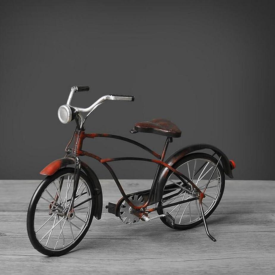 倫理まさにレジCHENGYI レトロ手作り工芸自転車の装飾クリエイティブリビングルームのオフィスカフェ自転車のモデルの装飾 (Size : 16*25cm)