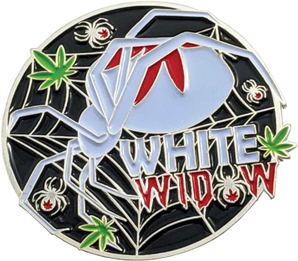 Enamel Pin White Widow Strain, Weed Strain, Soft, Weed Pin, Marijuana Pin, Stoner Pin, Cannabis Pin
