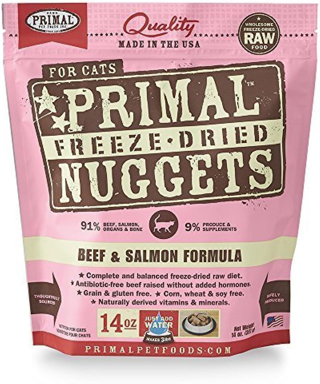 Primal Pet Foods FreezeDried Feline Beef and Salmon Formula by Primal Pet Foods