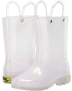 kids glitter rain boots