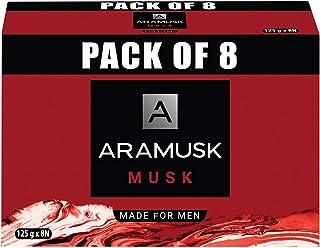 Aramusk Musk Soap, 125g(Pack of 8)
