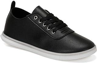CS19162 Siyah Kadın Sneaker Ayakkabı