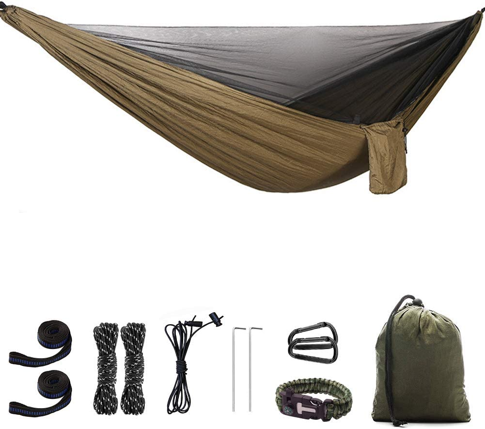 doppia amaca da appendere per esterni per viaggi leggera e facile da montare spiaggia escursionismo LiDCH Amaca da campeggio con zanzariera cortile