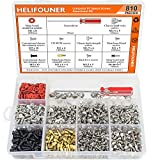 HELIFOUNER 810 Pieces Computer Standoffs Screws Assortment Kit with a Screwdriver
