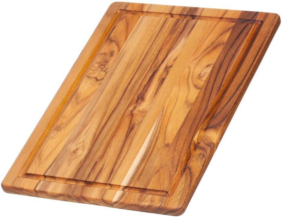 Teakhaus Edge Grain Cutting Serving Board Juice Canal Rectangle 15 75 X 11 X 0 5 Kitchen Dining
