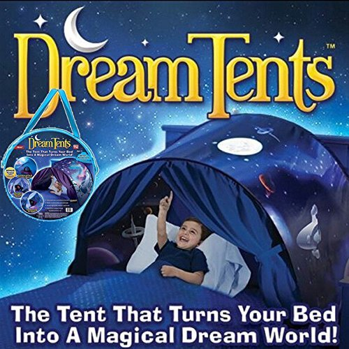 Lovne Dream Tents Kinder Traumzelt Bettzelt Spielhaus Zelt Spielhaus Erscheinen Drinnen Kinder Spielen Zelt (Weltraumabenteuer)