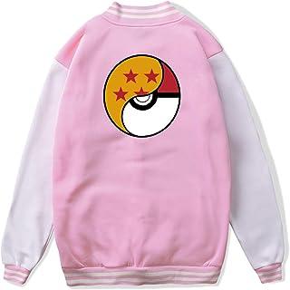 VJJ AIDEAR Dragon Ball X Pokemon Baseball Uniform Jacket Sport Coat Child Long Sleeve Hoodie Sportswear Black