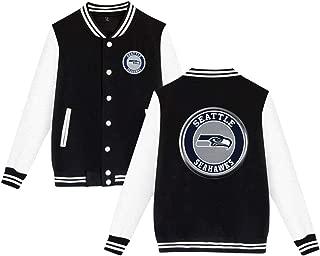 CLARK HANNAH KATIE Seattle Seahawks Sportswear Jacket Men Women Bomber Jacket,Black,