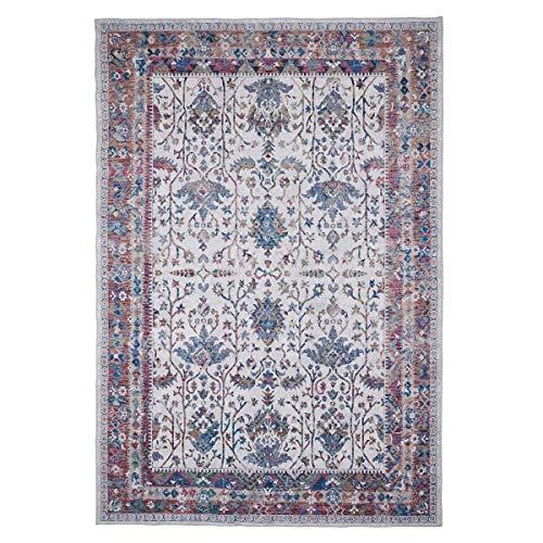 WEBTAPPETI.IT Alfombra original turco oriental para salón, color crema, marfil, Cypress Ivory 200 x 290 cm
