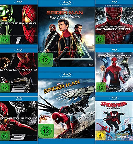 Mega Bundle - Spider-Man 1 + 2 + 3 | Amazing 1 + 2 Rise of Electro | Homecoming | Far From Home | A New Universe [9-Blu-ray]