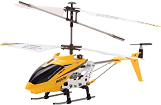 POCO DIVO S107H 2.4Ghz Altitude Hold RC Helicopter One-Key Launching/Landing Mini 3CH Metal Gyro Heli, Yellow