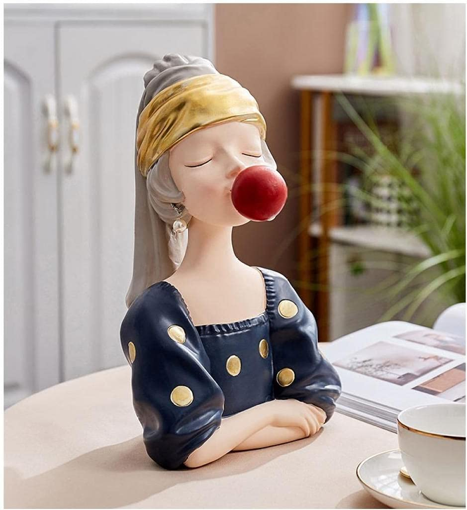 ZQQQC Head Sculptures Wall Girl Sculptur Special price for a limited time Recommended Resin Bubble