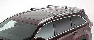 BRIGHTLINES 2014-2019 Toyota Highlander XLE Limited Silver Cross Bars Roof Racks