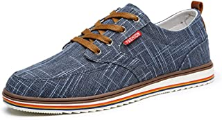 ZUAN Acrobatic Shoes for Men Fashion Sports Shoes Lace Up Style Linen Light and Soft Rhythm Toe