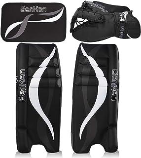 BenKen Sports Hockey Gear Goalie Pad Pack Ice Hockey Equipment Teenager &Adult Blue Black