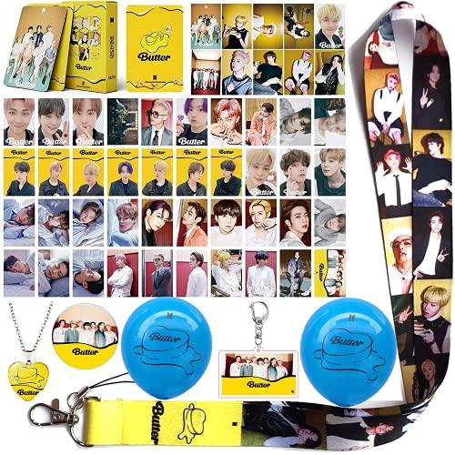 BTS Butter Album Merchandise Gift Sets LOMO Card Llavero colgante collar teléfono...