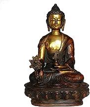 Home Accessories Sakyamuni Buddha Statue, Meditation Buddha Statue Sculpture, 21Cm Copper Fengshui Statue, Home Garden Dec...