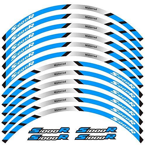 12 PCS Ajustar la Etiqueta de la Rueda de la Rueda de la Rueda de la Rueda de la Raya del Borde Reflectante para S1000R Completo Cinta (Color : 1)