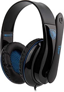 Sades T-Power SA-701 Gaming Headphones with Mic (Black/Blue) (Electronic Games)