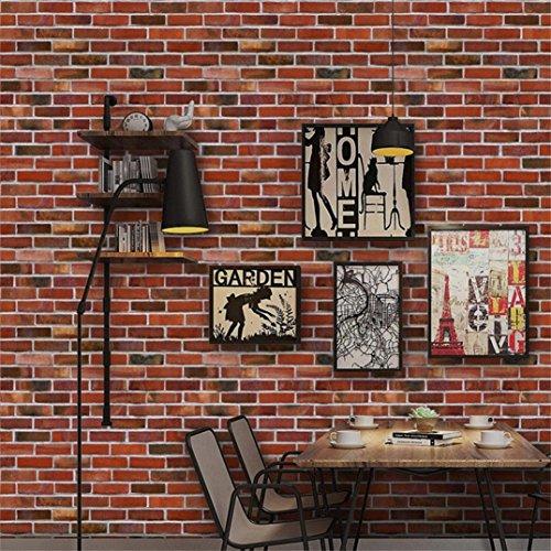 Stickers muraux, hunpta 3D mur papier brique effet pierre autocollant adhésif mur décoration salle (A)