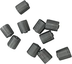 10pcs Plastic Gray Tire Valve Stem Caps TPMS Tire Cap with Gasket