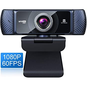 Webcam 1080P 60fps with Microphone for Streaming, Vitade 682H Pro HD USB Computer Web Camera Video Cam for Gaming Conferencing Mac Windows Desktop PC Laptop
