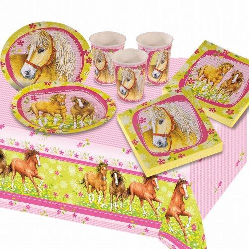Riethmüller 551335 - Kinderpartyset Pferde mit Teller, Becher, Servietten und Tischdecke