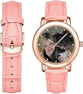 Personalized Couples Watches for Men or Women, Custom Photo or Name Wrist Watch