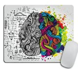 Mouse Pad Brain Desk Accessories Mousepad Office Decor Office Desk Accessories Office Office Supplies Office Accessories Color (Left and Right Brain)