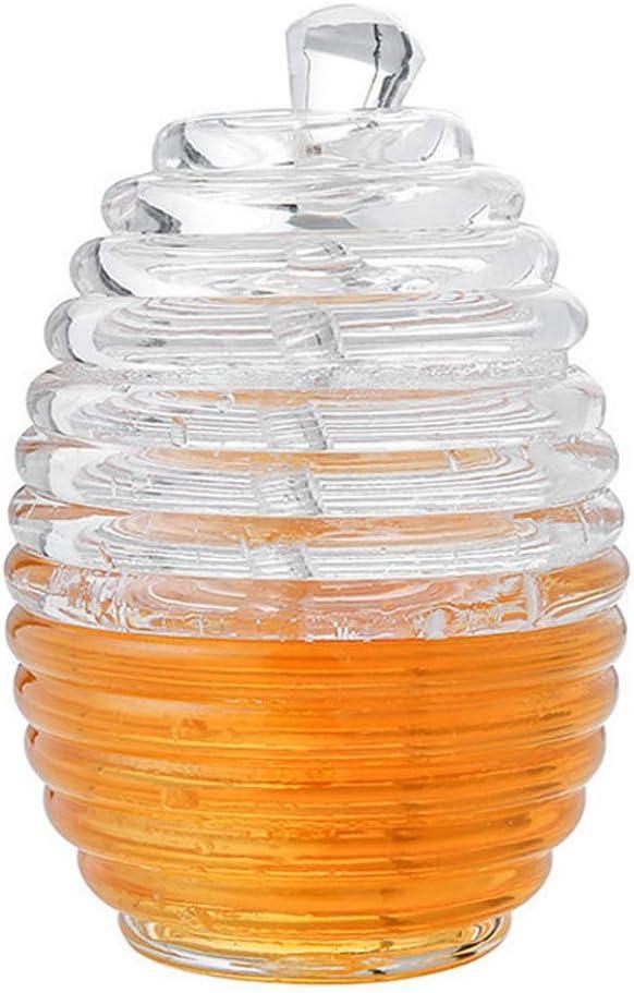Honey Bottle Large Capacity Ranking TOP5 Pot Jar Beehive Charlotte Mall Transpa