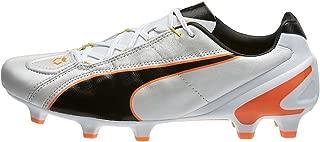 PUMA King II EF+ FG Cleats (White/Black/Fluo Flash Orange)