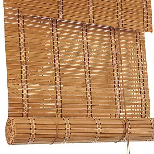 Bambusrollo, Premium-Holzrollo für Küchenfenstertüren, 60 cm / 80 cm / 100 cm / 120 cm breite Bambusjalousien, 60{edc3e1e811dc9e1709158c8d2418db63e5c65f66493b394d9fc8bf947de86fdb} Verdunkelung (größe : W60cm X H80cm)