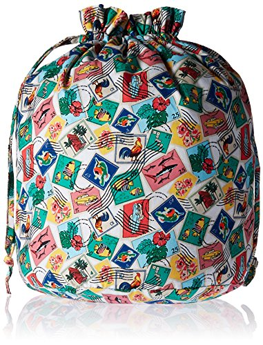 Vera Bradley Women's Mini Toiletry Bag Travel Set, Cuban Stamps