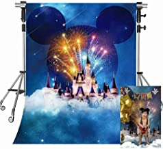 Cute Cartoon Backdrop for Photography Disneyland Backdrop White Cartoon Building Background Party Photo Booth Backdrop MEETSIOY 5x7ft GEMT491
